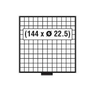 SAFE 6612 B BEBA MÜNZBOXEN MB 144 quadratische Fächer 22,5 mm + blaue Filzeinlagen - Vorschau 2