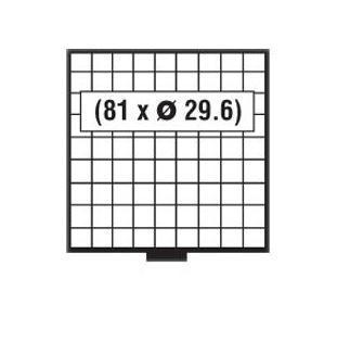 SAFE 6609 B BEBA MÜNZBOXEN MB 81 quadratische Fächer 29, 6 mm + blaue Filzeinlagen - Vorschau 2