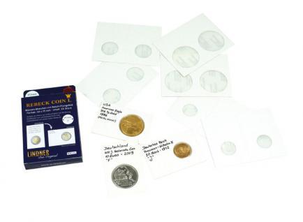 100 x Lindner Rebeck Coin L 17,5 mm Münzrähmchen Coin Holder RC175