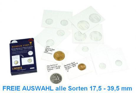 1000 x Lindner Rebeck Coin L 17, 5 - 39, 5 mm Münzrähmchen Coin Holder FREIE Auswahl