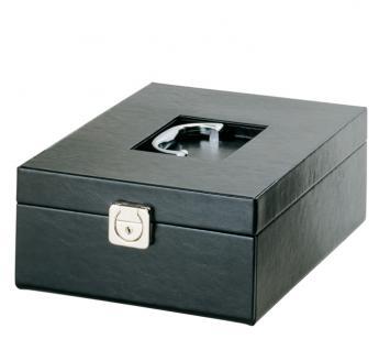 LINDNER 2314 Boxen-Koffer COMPACT Schwarzer Kunstleder Koffer KLEIN (leer) für 4 Münzboxen oder 2 Sammelboxen Standard Rauchglas - Vorschau 1