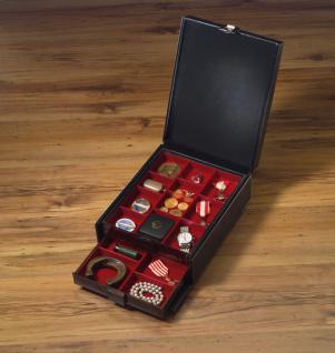 LINDNER 2314 Boxen-Koffer COMPACT Schwarzer Kunstleder Koffer KLEIN (leer) für 4 Münzboxen oder 2 Sammelboxen Standard Rauchglas - Vorschau 4