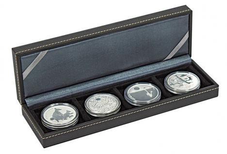 LINDNER 2362-4 Nera S Münzkassetten mit 4 Feldern Münzen bis 52 mm & bis Münzkapseln 46 mm Octo Quadrum Münzkapseln Münzrähmchen
