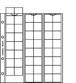1 x LINDNER K6R Karat Münzblätter Ergänzungsblätter 48 Felder 22 mm rote Zwischenblätter / ZWL