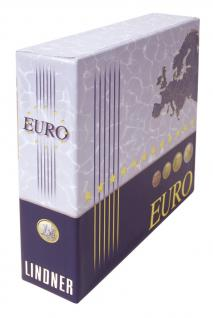 Lindner 1108K Schutzkassette Kassette für 1108M Münzalbum Vordruckalbum Euro Kursmünzensätze