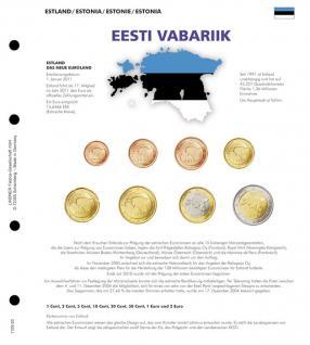 1 x Lindner 1109-20 Karat K8 Farbiges Vordruckblatt + EURO Estland Kursmünzensatz KMS