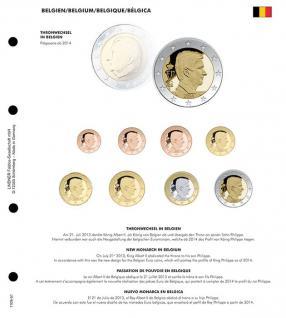 1 x Lindner 1109-51 Karat K8 Farbiges Vordruckblatt Belgien Thronwechsel + EURO Kursmünzensatz KMS