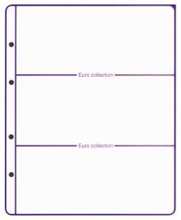 1 x Lindner 8450-0 Vordruckblatt + Münzblatt KMS Neutral zum selbst gestalten EURO COLLECTION