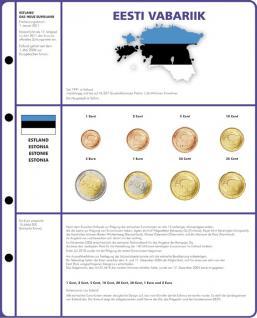 1 x Lindner 8450-20 Vordruckblatt + Münzblatt 3 KMS Estland Kursmünzensätze EURO COLLECTION