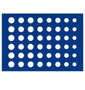 1 x SAFE 185 Blaue Münztableaus für 6 komplette EURO KMS Kursmünzensätze 1 Cent - 2 EURO Münzen in Münzkapseln
