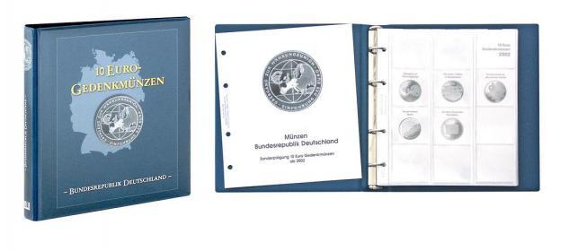 LINDNER 1117M Münzalbum 10 Euro Gedenkmünzen Deutschland Vordruckalbum Teil I 2002 - 2009