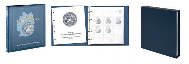 LINDNER 1117M + 810D-B Münzalbum 10 Euro Münzen Gedenkmünzen Deutschland Vordruckalbum Band I 2002-2009 + Kassette