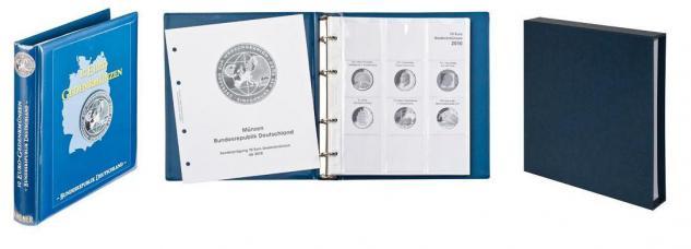 LINDNER 1117M2 + 810D-B Münzalbum 10 Euro Gedenkmünzen Deutschland Vordruckalbum Teil II 2010 - 2015 + Kassette