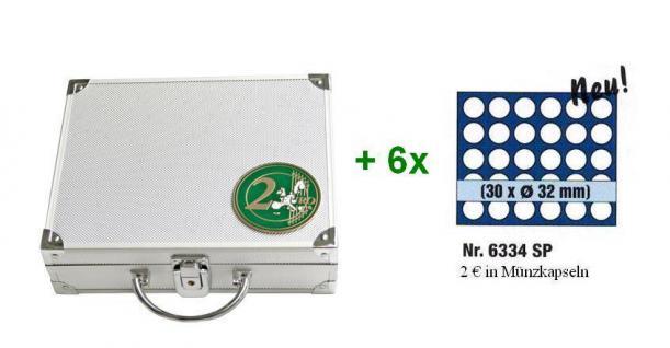 SAFE 172 ALU Münzkoffer 6 Tableaus 6334 für 180 Münzen bis 32 mm & 2 EURO Münzen Gedenkmünzen in Münzkapseln 26 - Vorschau 2