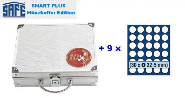 SAFE 175 PLUS ALU Münzkoffer mit 9 Tableaus 6332 für 270 x 10 EURO / DM Gedenkmünzen Münzen Deutschland