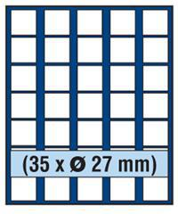 SAFE 230 - 6327 PLUS ALU Münzkoffer SMART USA 9 Tableaus 315 quadartische Fächer 27 mm für US Sacajawea - Presidential Dollar - Vorschau 3