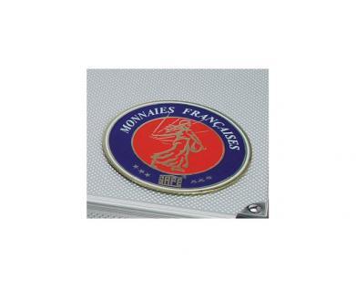 SAFE 231 - 6350 PLUS ALU Münzkoffer SMART Frankreich 9 Tableaus 108 Fächer 50mm Münzrähmchen Quadrum Octo Münzkapseln - Vorschau 2