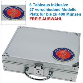 SAFE 231 STANDARD ALU Münzkoffer SMART Frankreich mit 6 Tableaus - 27 Modelle für bis zu 480 Münzen - FREIE AUSWAHL