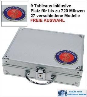 SAFE 231 PLUS ALU Münzkoffer SMART Frankreich mit 9 Tableaus - 27 Modelle für bis zu 720 Münzen - FREIE AUSWAHL - Vorschau 1