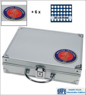 SAFE 231 - 6329 PLUS ALU Münzkoffer Frankreich SMART 9 Tableaus 315 Fächer 29, 5 mm für 10 Euro Frankreich der Regionen 2010 -2012