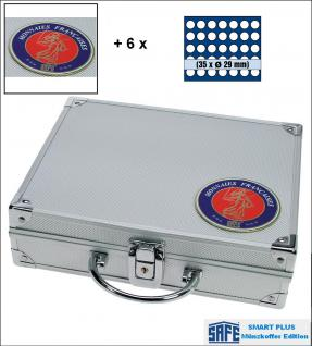 SAFE 231 - 6329 PLUS ALU Münzkoffer Frankreich SMART 9 Tableaus 315 Fächer 29,5 mm für 10 Euro Frankreich der Regionen 2010 -2012