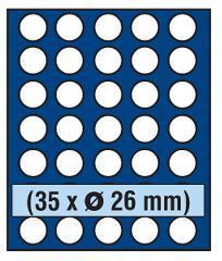 SAFE 231 - 6326 STANDARD ALU Münzkoffer SMART Frankreich 6 Tableaus 270 Fächer 26 mm 2 Euro Münzen - Vorschau 3