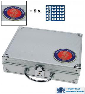SAFE 231 - 6326 PLUS ALU Münzkoffer SMART Frankreich 9 Tableaus 315 Fächer 26 mm 2 Euro Münzen