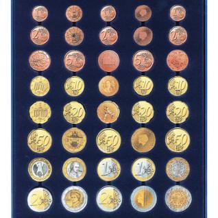 SAFE 231 - 6340 STANDARD ALU Münzkoffer SMART Frankreich 6 Tableaus 30 x komplette EURO Kursmünzensätze KMS 1 Cent - 2 Euro Münzen - Vorschau 3