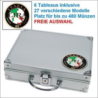 SAFE 232 ALU Münzkoffer Italien - Italy - Italia 6 Tableaus - 29 Modelle verfügbar Platz für bis zu 480 Münzen - FREIE AUSWAHL