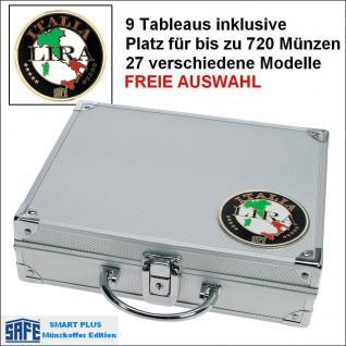 SAFE 232 PLUS ALU Münzkoffer SMART Italien - Italy - Italia 9 Tableaus 29 Modelle verfügbar Platz für bis 720 Münzen FREIE AUSWAHL