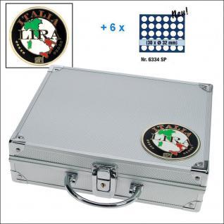 SAFE 232 - 6334 STANDARD ALU Münzkoffer SMART Italien 6 Tableaus 180 Fächer 32 mm 2 Euro Münzen in Münzkapseln 26 - Vorschau 1