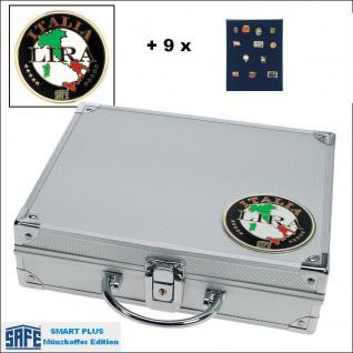 SAFE 232 - 6360 PLUS ALU Sammelkoffer SMART Italien 9 Tableaus ohne Einteilung Pins Anstecknadeln Militaria Broschen - Vorschau 1