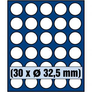 SAFE 6332 Nova Münzboxen - Schubladenelemente 30 runde Fächer 32, 5 mm für 10 Euro DM Mark der DDR & 2 Euro in Münzkapseln 26