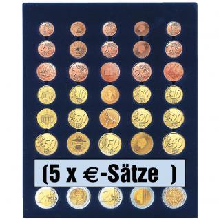 SAFE 6340 Nova Münzboxen - Schubladenelemente 5 komplette EURO Kursmünzensätze KMS 1 Cent - 2 Euro Münzen - Vorschau 1