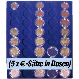 SAFE 6339 Nova Münzboxen - Schubladenelemente 5 komplette EURO Kursmünzensätze KMS 1 Cent - 2 Euro Münzen in Münzkapseln