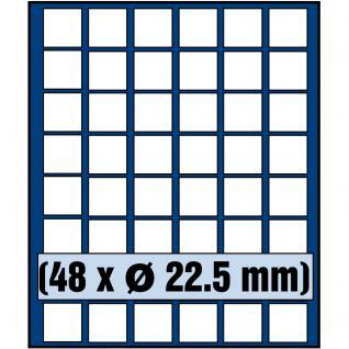 SAFE 6322 Nova Münzboxen - Schubladenelemente 48 eckige Fächer 22, 5 mm 5 - 10 - 20 Cent & 10 - 50 Pfennig