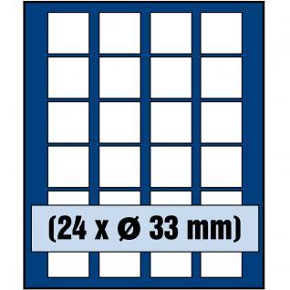 SAFE 6333 Nova Münzboxen - Schubladenelemente 24 eckige Fächer 33 - 34 mm 5 - 10 Euro DM Mark der DDR - 20 Mark DDR