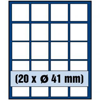 SAFE 6341 Nova Münzboxen - Schubladenelemente 20 eckige Fächer 41 mm für US Eagle 5 Mark Kaiserreich Kanada Maple Leaf