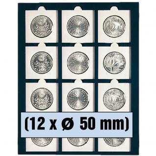 SAFE 6350 Nova Münzboxen - Schubladenelemente 12 eckige Fächer 50 mm Münzrähmchen Octo Münzkapseln Quadrum Münzkapseln