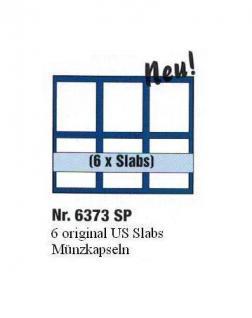 1 x SAFE 6373 SP Tableaus Einsätze SMART 6 eckigen Fächern 62 x 84 mm für Münzen in original US Slabs Münzkapseln