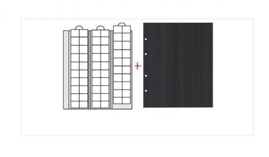 2 x SAFE 7394 Premium Ergänzungsblätter Münzhüllen Münzblätter 60 Fächer Felder x 20 mm + schwarze Zwischenblätter ZWL