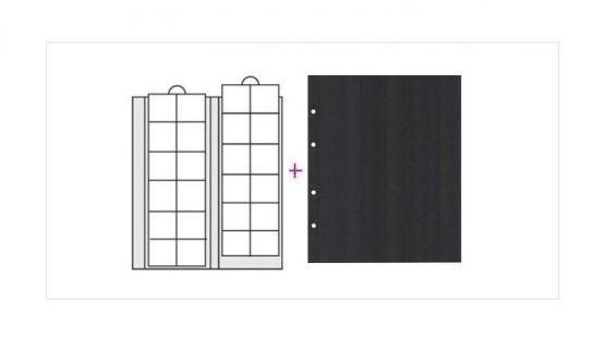10 x SAFE 7392 Premium Ergänzungsblätter Münzhüllen Münzblätter 24 Fächer x 34 mm + schwarze ZWL Ideal für 5 - 10 Euro DM - 20 Mark - Vorschau 1