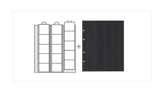 10 x SAFE 7391 Premium Ergänzungsblätter Münzhüllen Münzblätter 15 Fächer x 44 mm + schwarze ZWL Ideal für US Eagle Dollar