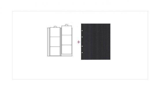 2 x SAFE 7390 Premium Ergänzungsblätter Münzhüllen Münzblätter 6 Fächer x 70 mm + schwarze ZWL Ideal für Münzrähmchen