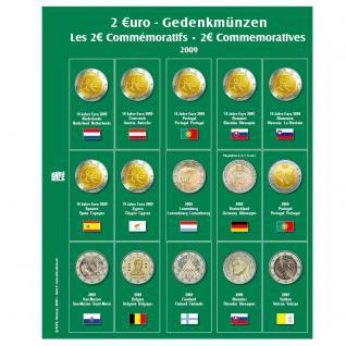 SAFE 7341-5 Premium Münzblätter Ergänzungsblätter Münzhüllen 7393 mit Vordruckblättern 2 Euro Münzen Gedenkmünzen 2009 - Vorschau 1