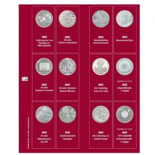 SAFE 7342-1 Premium Münzblätter Ergänzungsblätter Münzhüllen 7392 mit Vordruckblättern Deutsche 10 Euro Gedenkmünzen 2002 - 2004