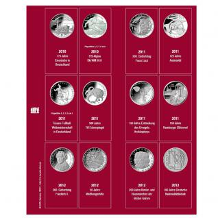 SAFE 7342-5 Premium Münzblätter Ergänzungsblätter Münzhüllen 7392 mit Vordruckblättern Deutsche 10 Euro Gedenkmünzen 2010 - 2012 - Vorschau 1