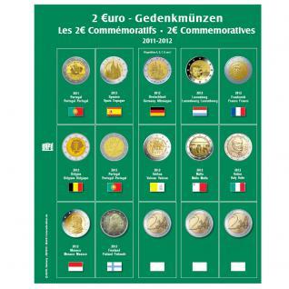 SAFE 7341-9 Premium Münzblätter Ergänzungsblätter Münzhüllen 7393 mit Vordruckblättern 2 Euro Münzen Gedenkmünzen 2012 - Vorschau 1