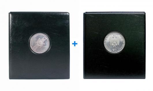 SAFE 7347 + 7414 SET PREMIUM MÜNZALBEN Deutschland 5 + 10 DM Mark Gedenkmünzen Vordruckalbum 8 Münzhüllen 7292 + 8 Vordruckblätter
