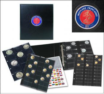 SAFE 7348 PREMIUM MÜNZALBUM EINGBINDER ALBUM FRANKREICH FRANCE UNIVERSAL mit 5 Münzblättern für 122 Münzen - Vorschau 1